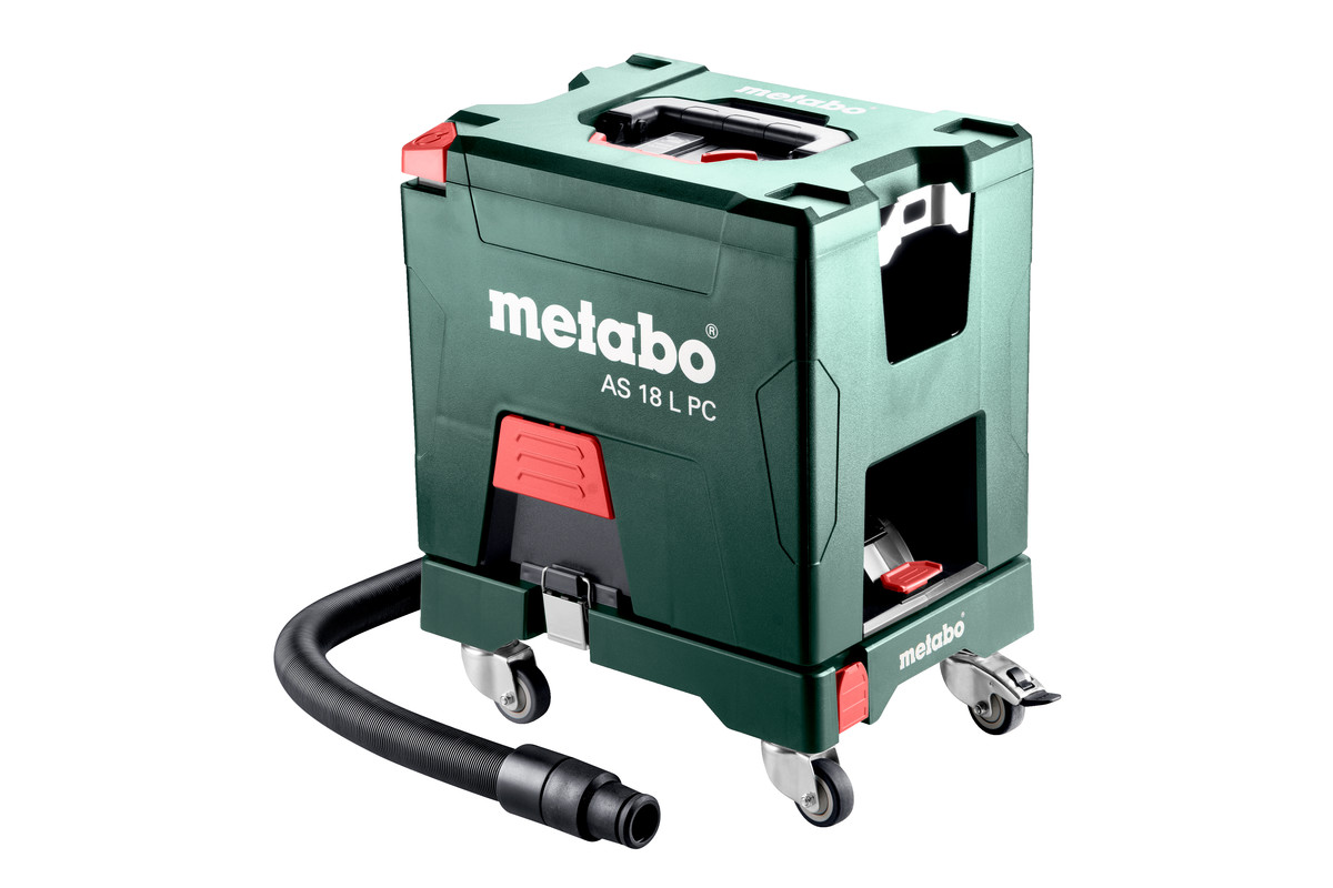 Metabo AS 18 L PC, L-Class Vacuum Cleaner, Body Only + Roller Board