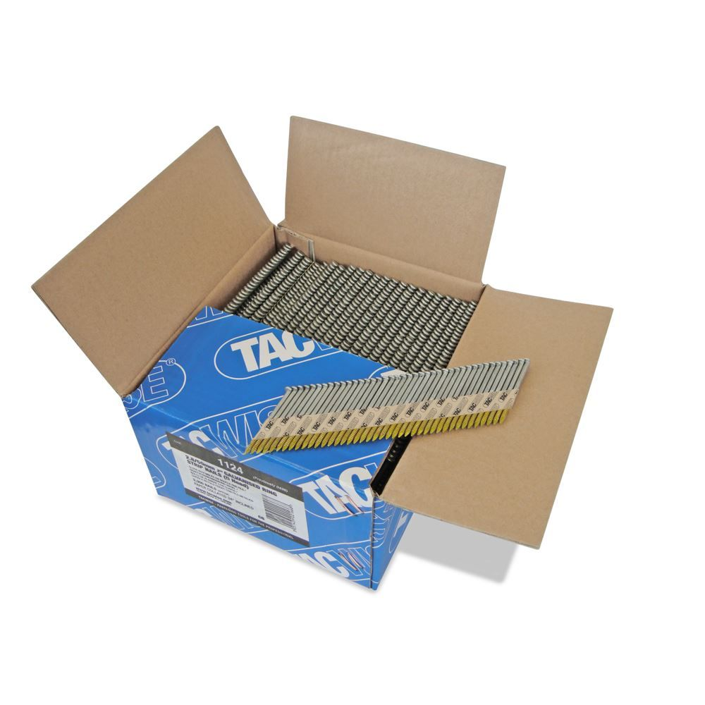 Tacwise 1124 2.8 50mm Extra Galvanised Ring Strip Nails, Box of 3300