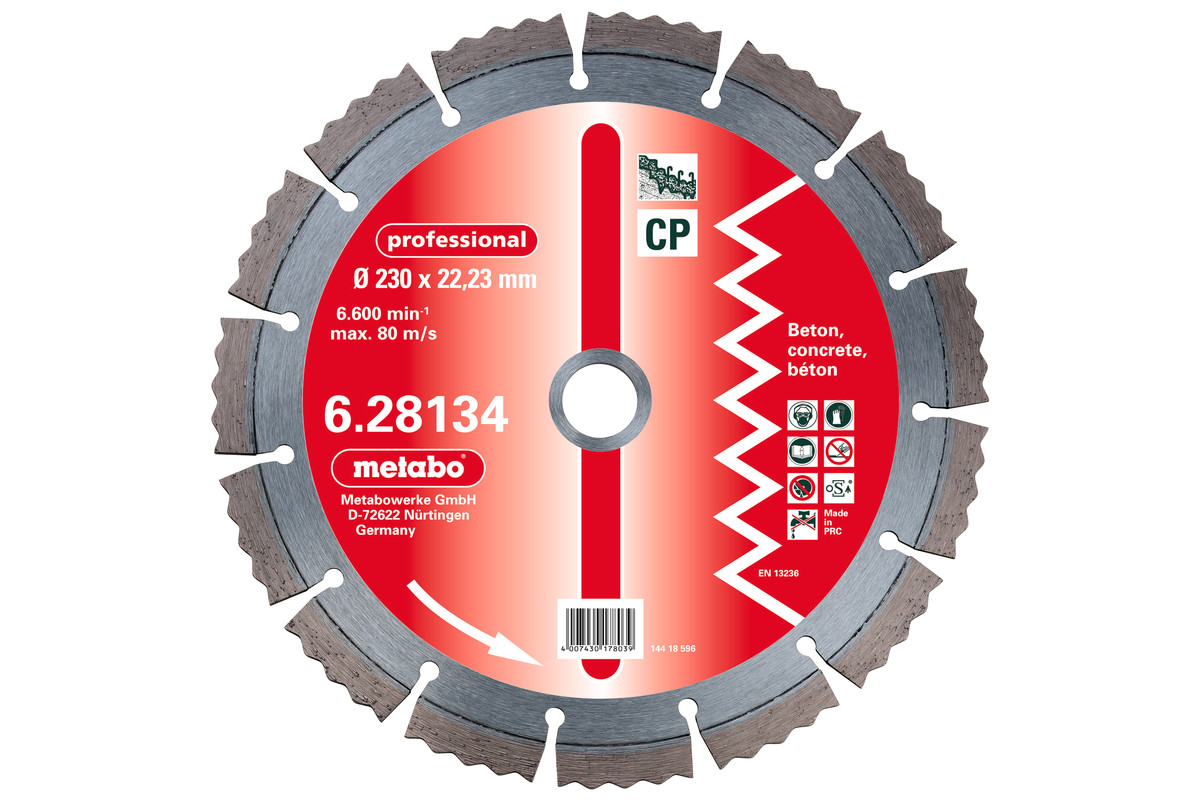 Metabo DIA-TS Diamond Cutting Disc, 150 x 22.23 mm, Professional, CP