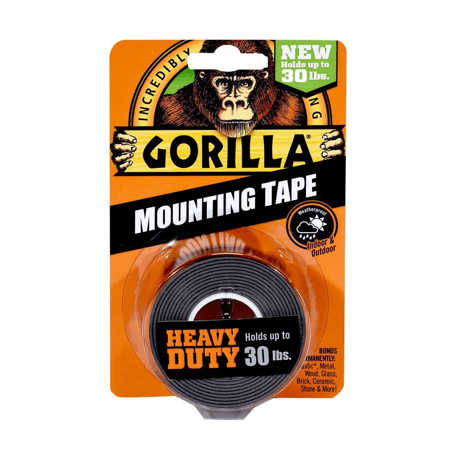 Gorilla Glue Heavy Duty Double Sided Mounting Tape, 25mm,1.5m