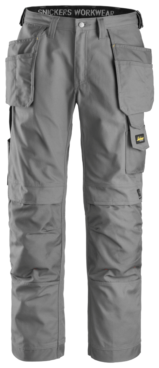Snickers 3214 Craftsmen Holster Pocket Trousers, Grey/Grey, W35/L30