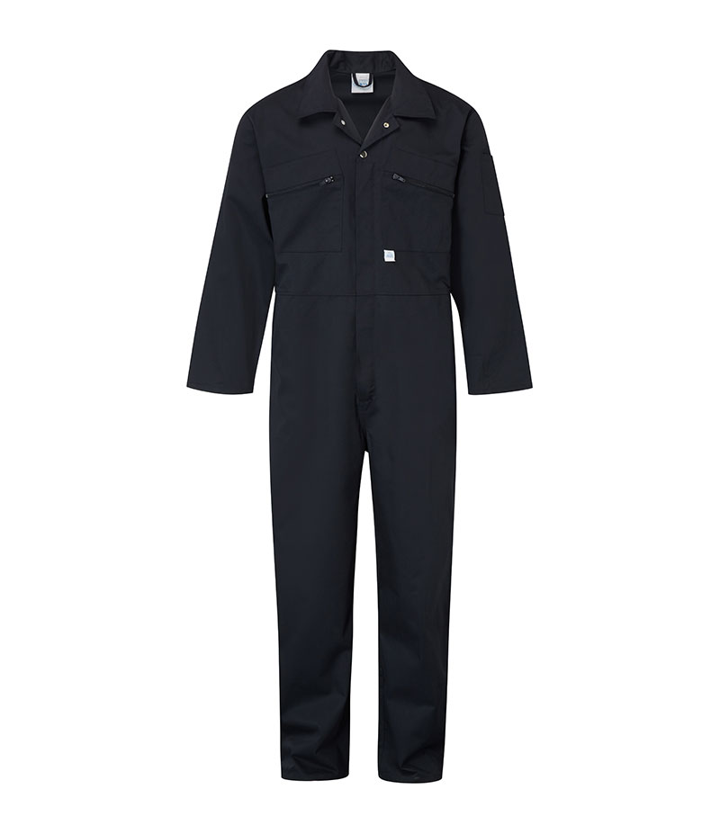 Castle Clothing Mens Zip Overall, Navy, Size 42