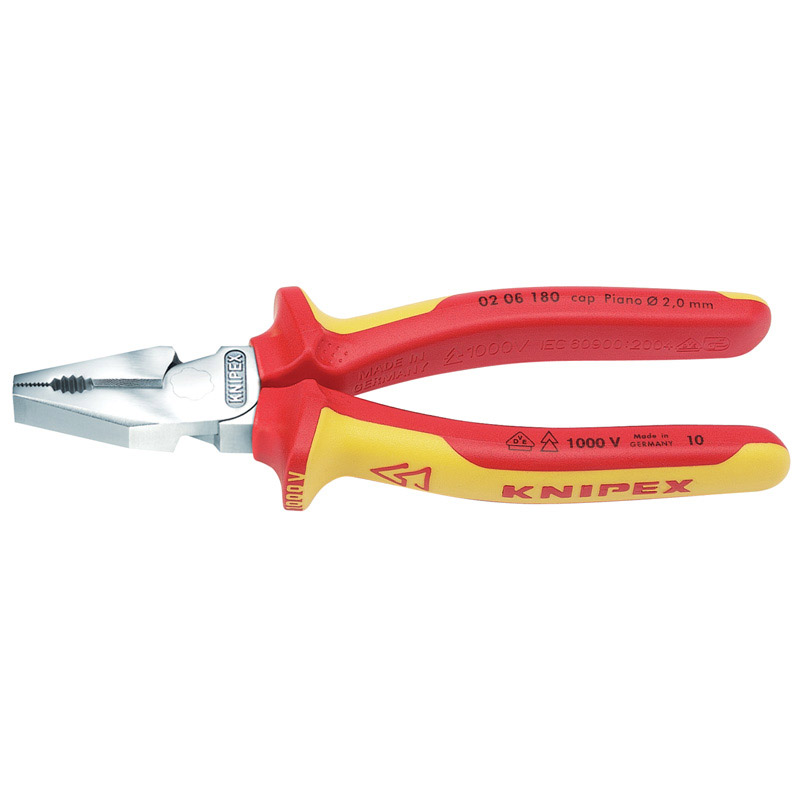Knipex 02 06 180 180mm VDE Fully Insulated High Leverage Combi Pliers