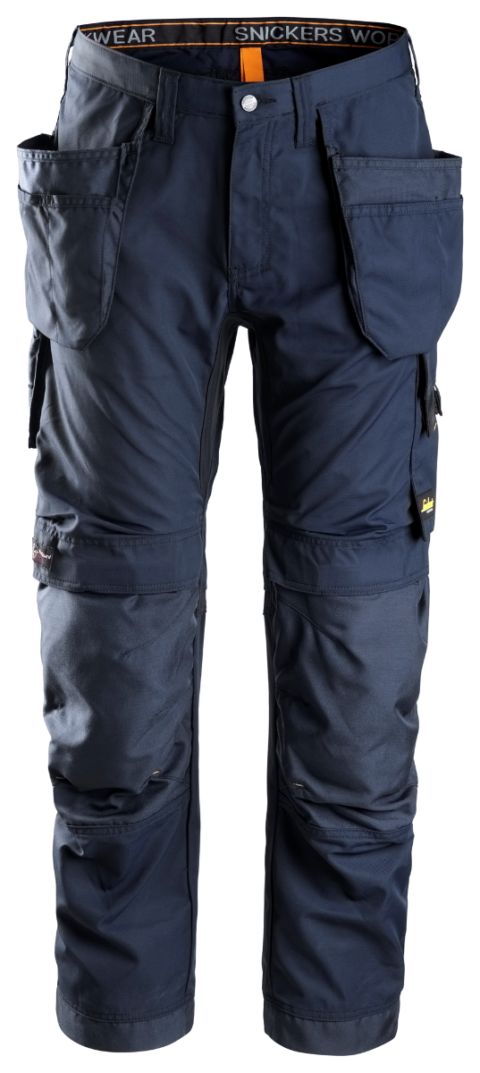 Snickers 6201 AllRoundWork Trousers Holster Pocket, Navy/Navy, W31/L30