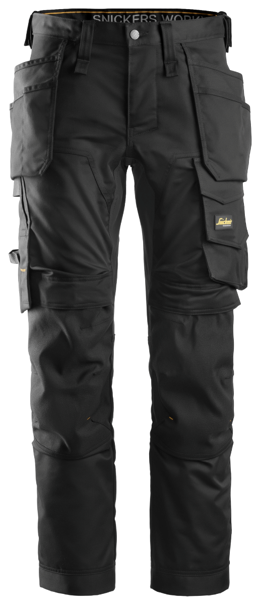 Snickers 6241 AllRoundWork Stretch Holster Pocket Trousers, Black/Black, W35/L29