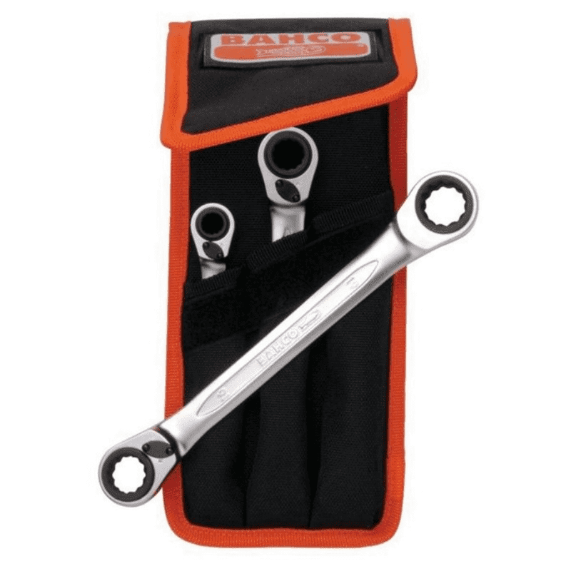 Bahco S4RM/3T Reversible Ratchet Spanners Set S4RM
