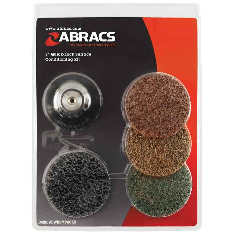 Abracs Roloc Quick Lock Surface Conditioning Kit, 75mm