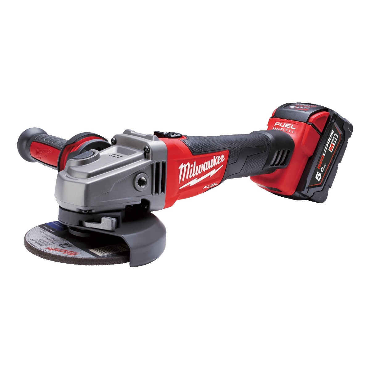 Milwaukee M18CAGXPDB502X M18 18v 115mm Brushless Angle Grinder  2 x 5.0Ah Batteries & Charger
