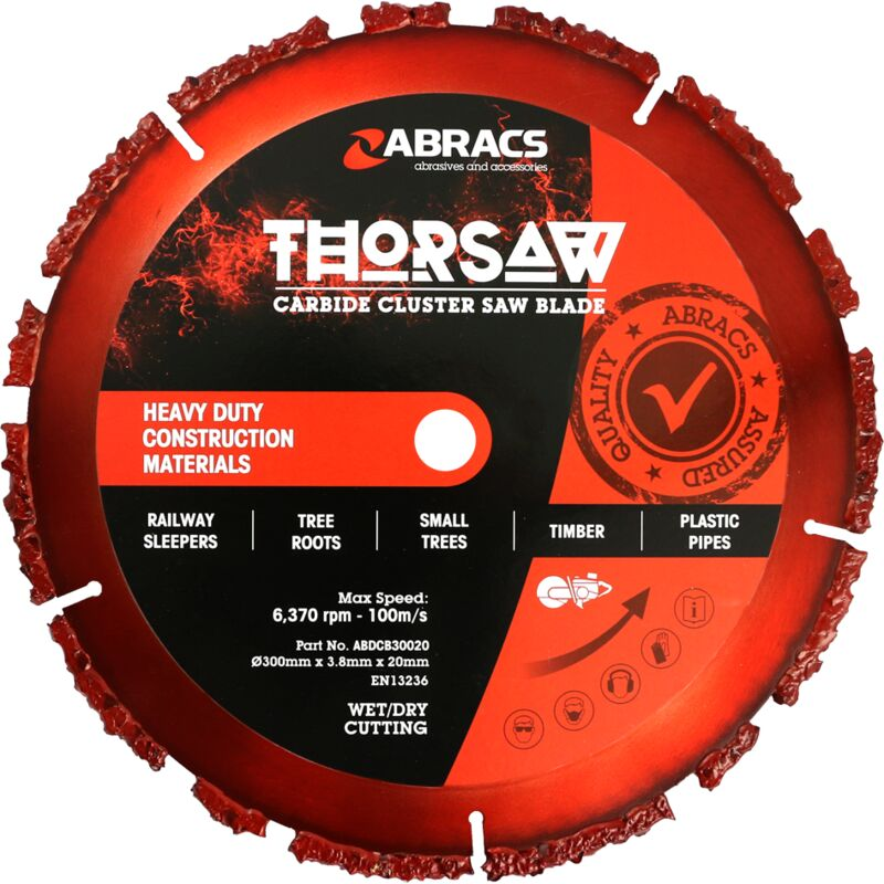 Abracs Thorsaw Carbibe Cluster Blade, 300mm x 3.8mm x 20mm