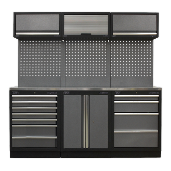 Sealey APMSSTACK07SS Modular Storage System Combo - Stainless Steel Worktop