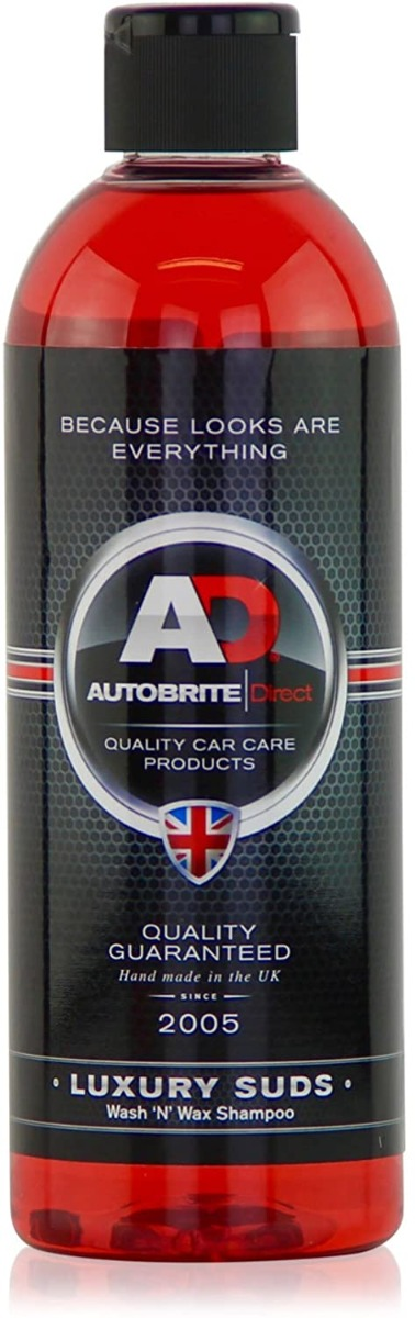 Autobrite Luxury Suds, Wash 'N' Wax Shampoo 500ml
