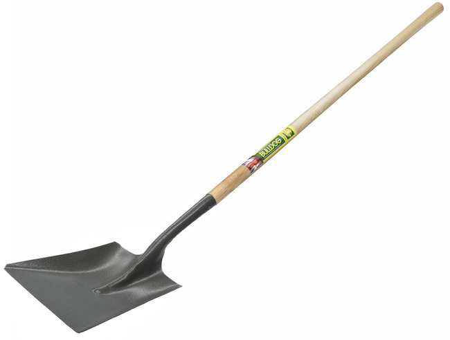 "Bulldog 2213045470 Square Mouth Shovel 54"", Head No.4, Long Ash Handle"
