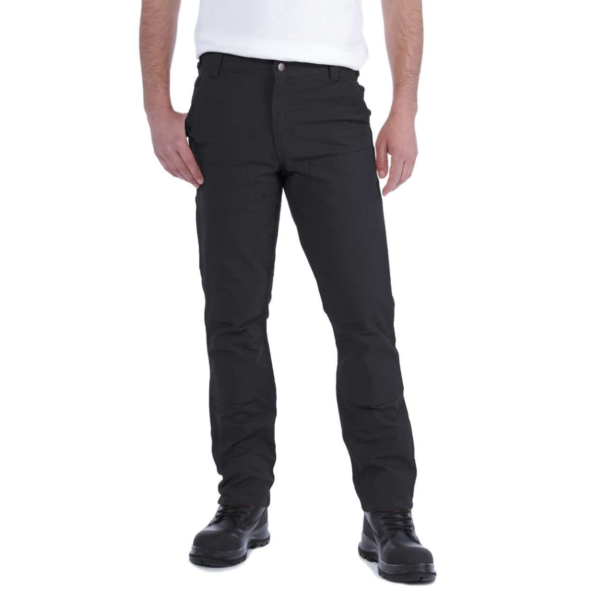 Carhartt Stretch Duck Double Front Trousers, Black, W32/L34