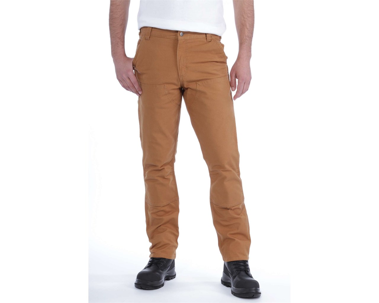 Carhartt Stretch Duck Double Front Trousers, Carhartt Brown, W38/L32
