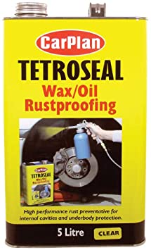CarPlan Tetroseal Wax/Oil Rustproof Clr 5L