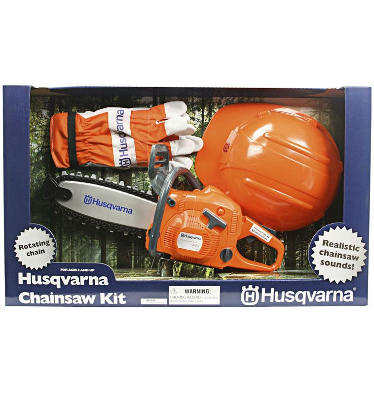 Husqvarna Toy Chainsaw Play Kit, Battery Operated