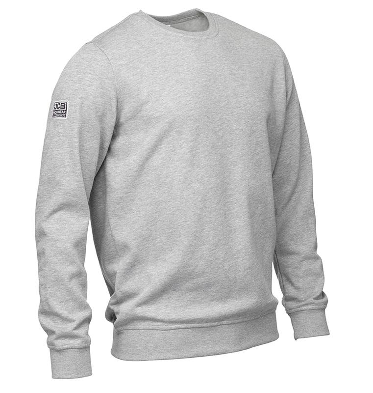 JCB Trade Sweatshirt, Grey Marl, Size XL