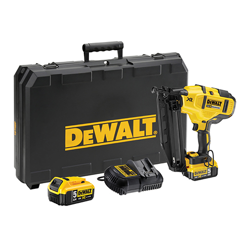 Dewalt DCN660 18V 16 Gauge 2ND Fix Finish Nailer 2x 5.0AH + Charger