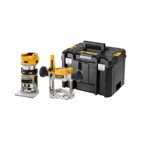 DeWalt DCW604NT 18v Router Body with Extra Bases