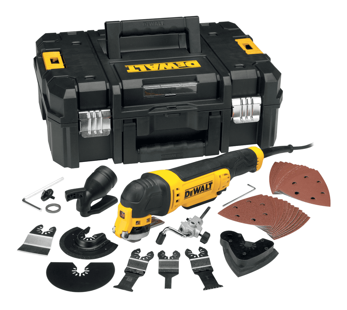 Dewalt DWE315KT Multi Tool Kit c/w Accessories, 240V