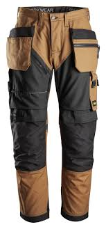 Snickers 6202 RuffWork Holster Pocket Trousers, Brown/Black, W35/L32
