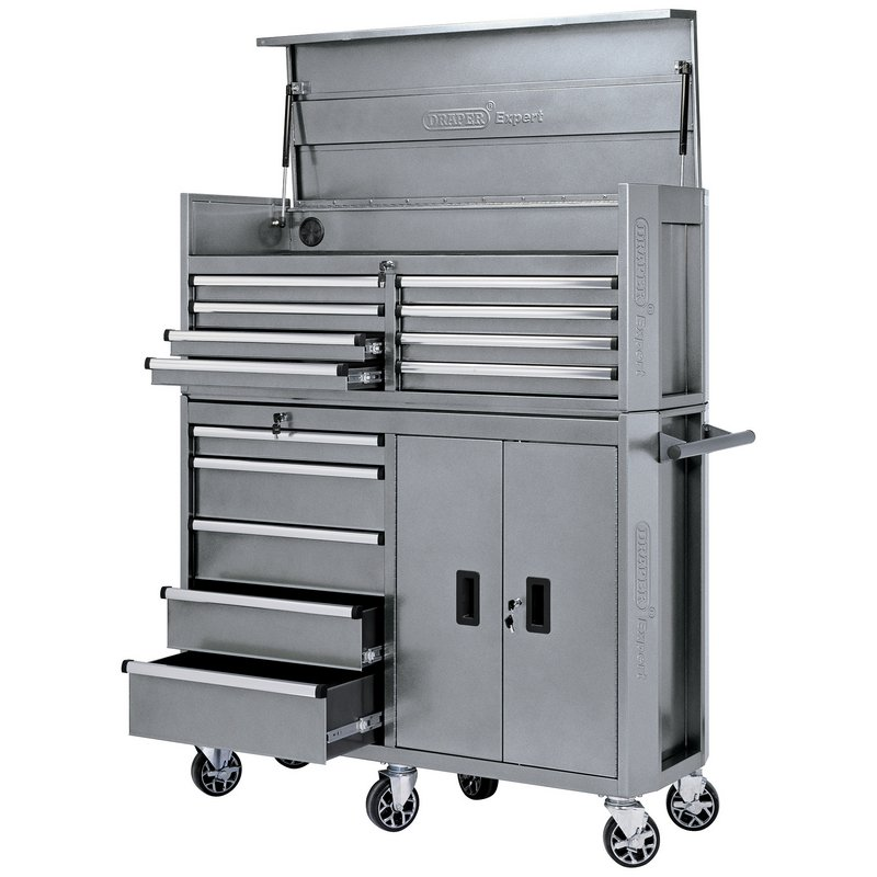 """Draper 70507 52"""" Combination Roller Cabinet and Tool Chest 13 Drawer"""