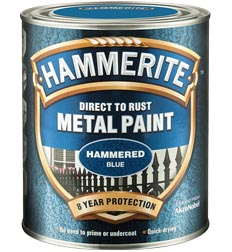 Hammerite 5092938 Hammered Blue Metal Paint 750ml