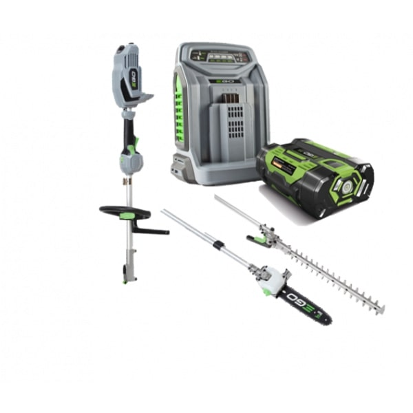 EGO MHCC1002E 56v Multi Tool Hedge Cutter & Pole Saw Kit, 2.5Ah Battery & Quick Charger