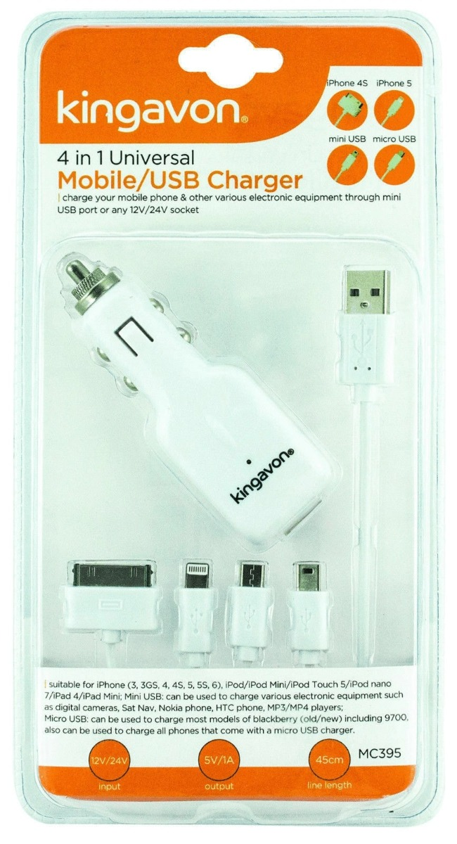 Kingavon 4 in 1 Mobile/USB Charger