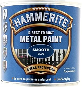 Hammerite 5084884 Smooth Blue Metal Paint 250ml