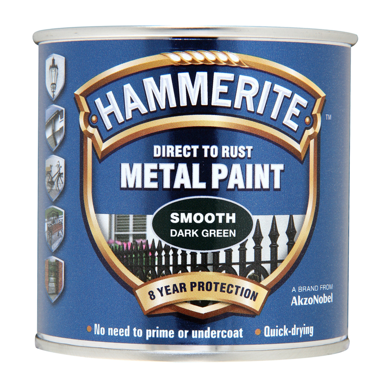 Hammerite 5084889 Smooth Dark Green Metal Paint 250ml