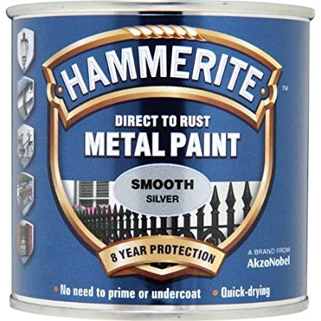 Hammerite 5084894 Smooth Silver Metal Paint 250ml