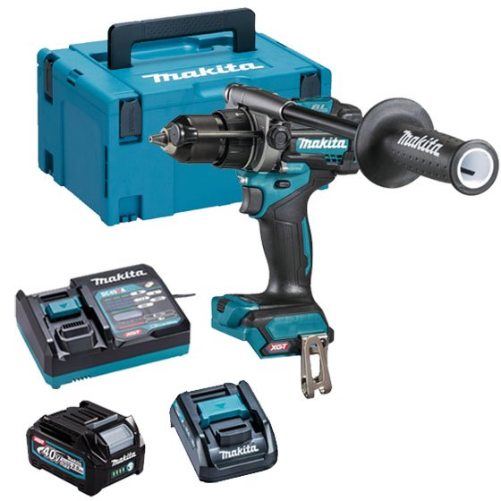 Makita HP001GD102 40v XGT Brushless Combi Drill, 1 x 2.5ah Battery, Fast Charger, Carry Case + ADP10 Adaptor