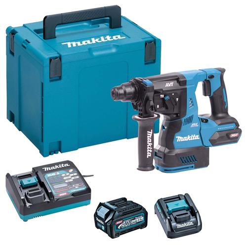Makita HR003GD101 40v XGT Brushless 3-Function SDS+ Hammer Drill, 1 x 2.5ah Battery, Fast Charger, Carry Case + ADP10 Adapter