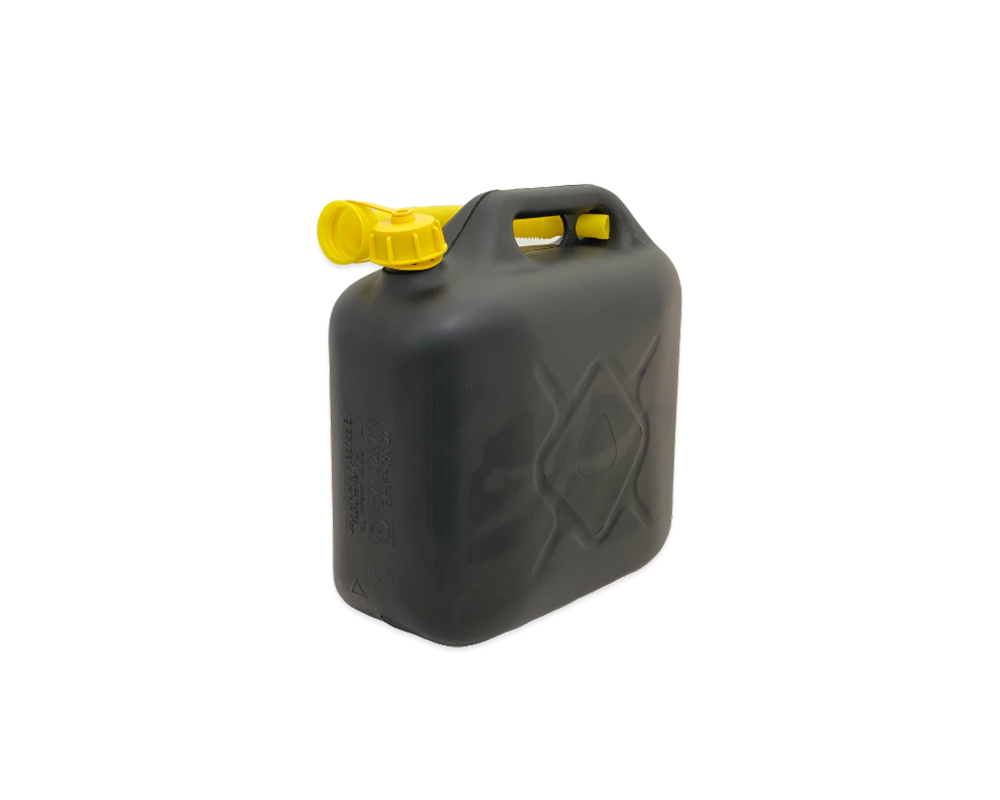Black Plastic 10Ltr Jerry Can
