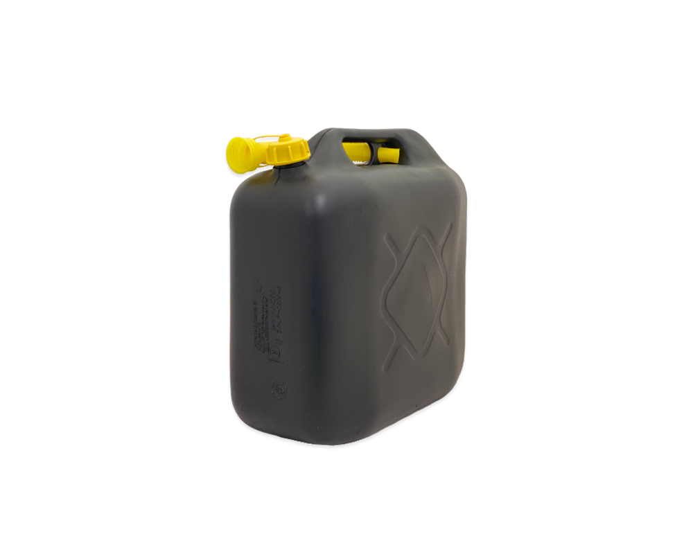 Black Plastic 20Ltr Jerry Can