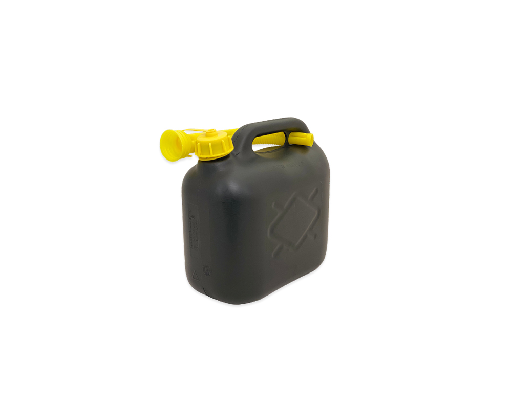 Black Plastic 5Ltr Jerry Can