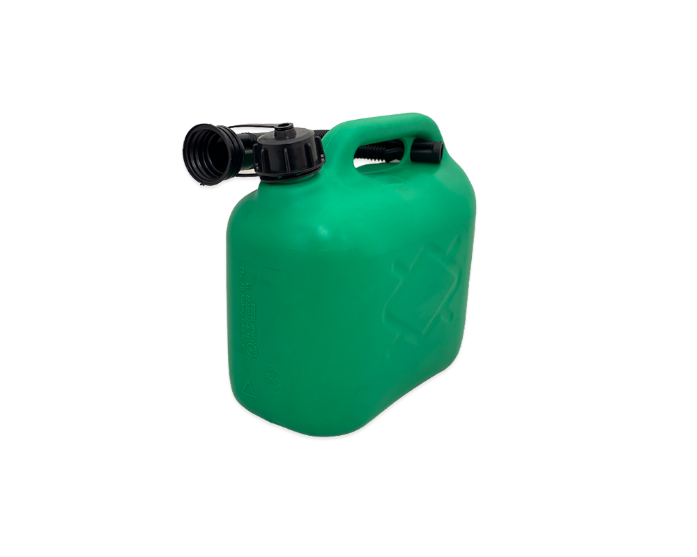 Green Plastic 5Ltr Jerry Can
