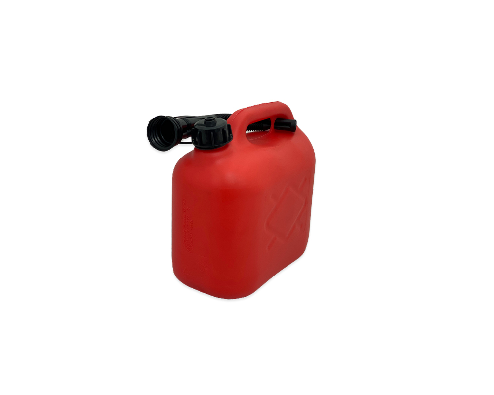 Red Plastic 5Ltr Jerry Can