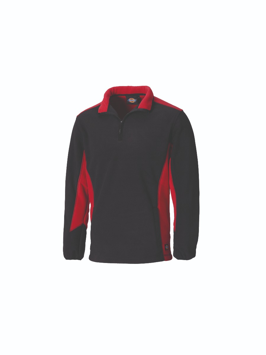 Dickies JW7011 Two Tone Micro Fleece-XL-Red/Black