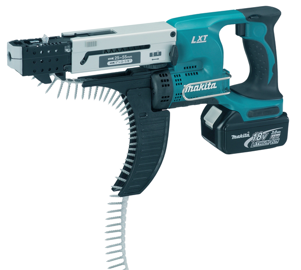 Makita DFR550RMJ 18v Auto Feed Screwdriver 2x 4.0Ah