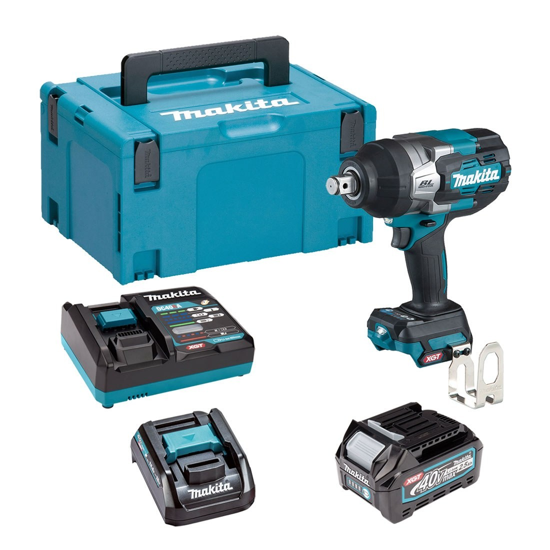 Makita TW001GD102 40V Max XGT Brushless Impact Wrench with 1 x 2.5Ah Battery & Charger