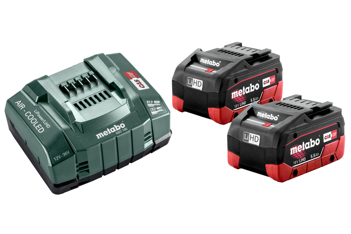Metabo Battery Set 2 x 5.5Ah LiHD & Charger