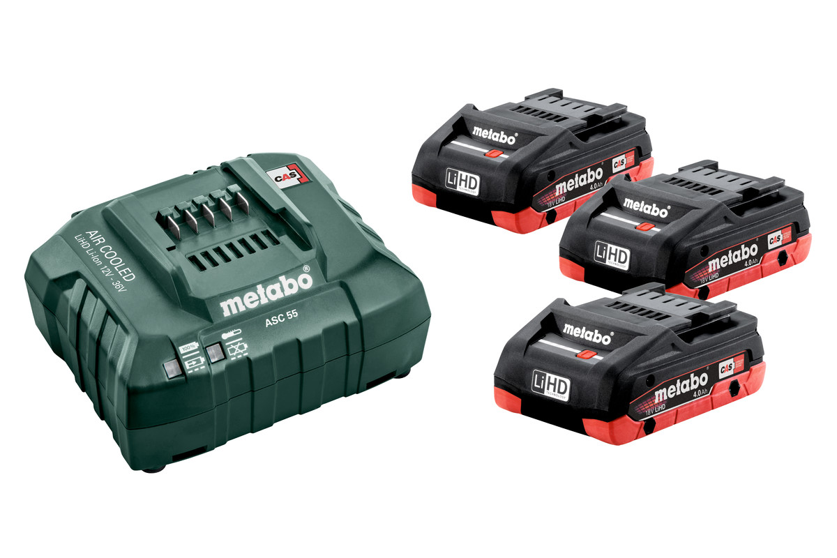Metabo Battery Set 3 x 4.0Ah LiHD & Charger