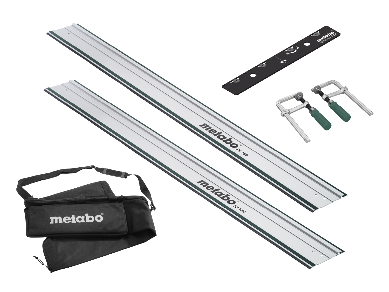 Metabo Plunge Saw Guide Rail Kit (2 x Guide Rail, Joining Bar, Bag & Clamp)