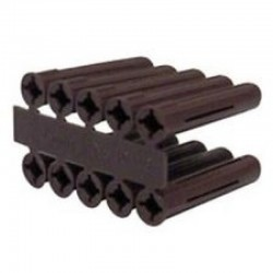 Olympic 050-070-020 Brown Plastic Wall Plug - Pack of 100