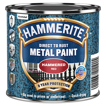 Hammerite 5092961 Hammered Red Metal Paint 250ml