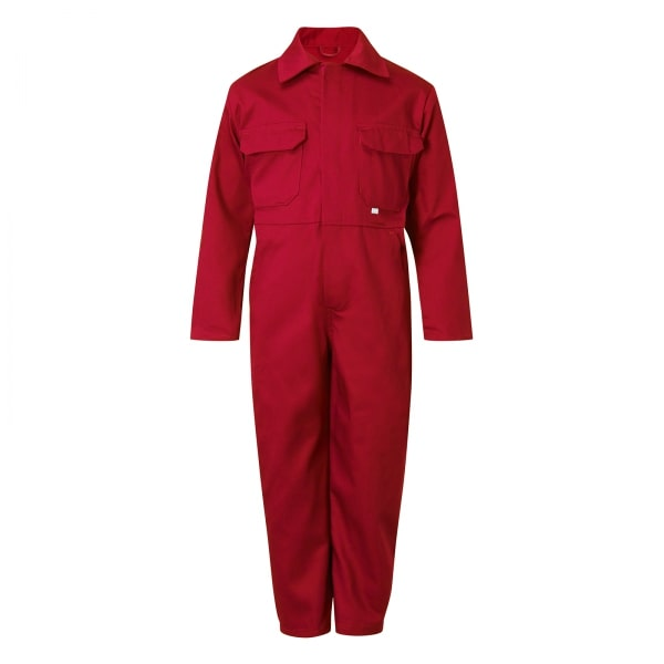 Castle Clothing Kids Overall, Red, Age 9-10