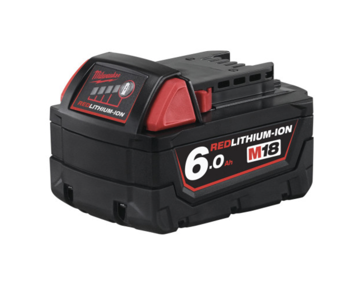 Milwaukee M18B6 M18 18v 6.0Ah Red Lithium-Ion Battery