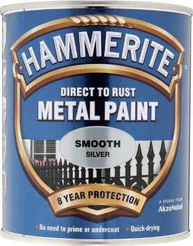 Hammerite 5092808 Smooth Silver Metal Paint 750ml